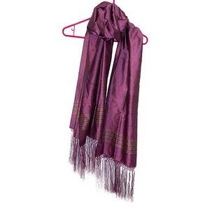 Handmade fringed scarf